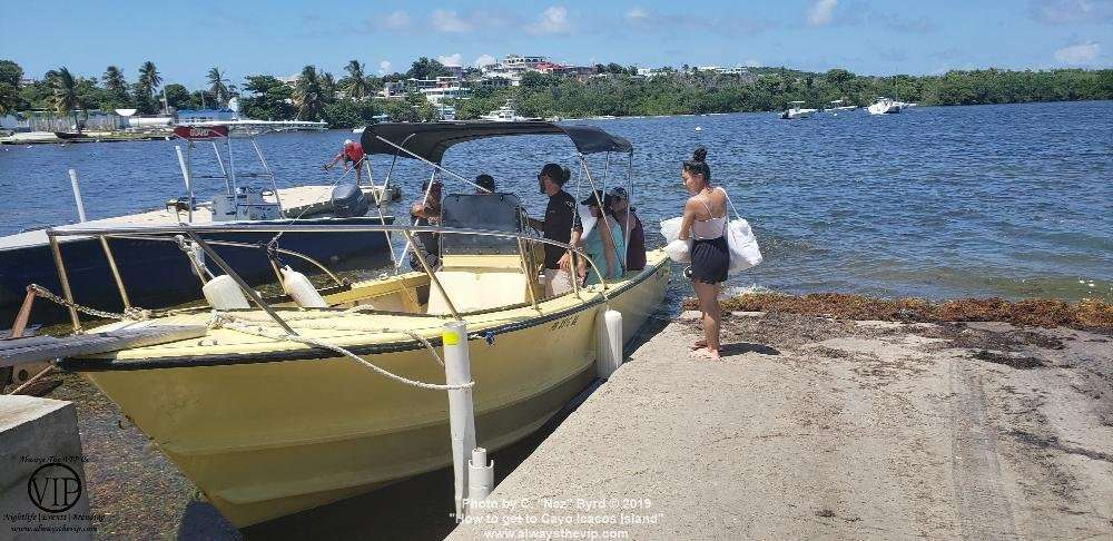 Catching a water taxi to Cayo Icacos